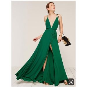 NWT Reformation Callalily Dress Green